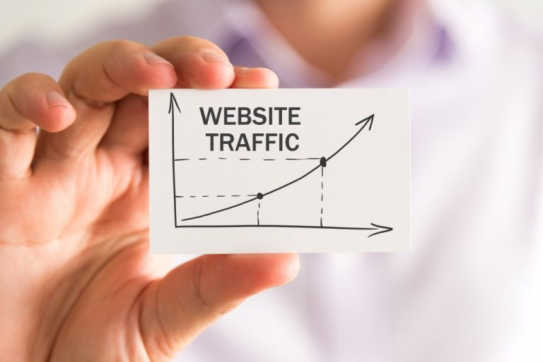 website traffic being shown in a mini card