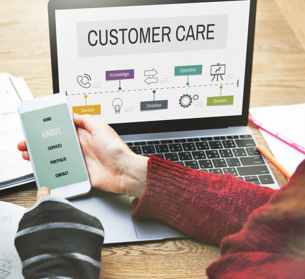 customer care on screen
