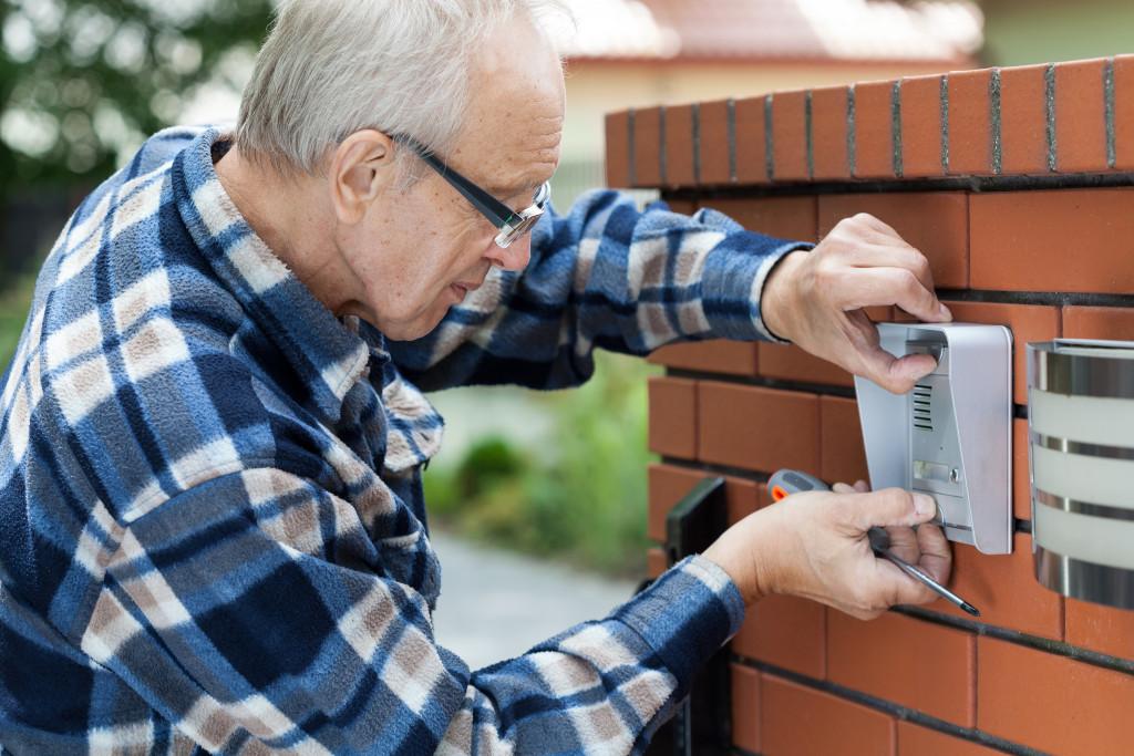 setting up doorbell camera
